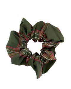 JA•NI hair Accessories - Hair Scrunchie, The Green Checkered