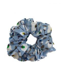 JA•NI hair Accessories - Hair Scrunchie, The Blue Flower