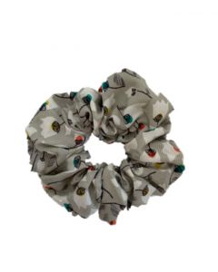 JA•NI hair Accessories - Hair Scrunchie, The Grey Flower