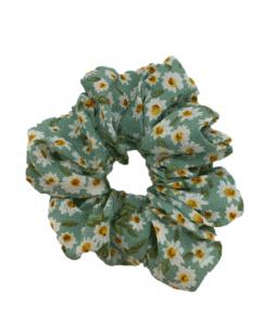 JA•NI Hair Accessories - Hair Scrunchies, The Green Marguerite