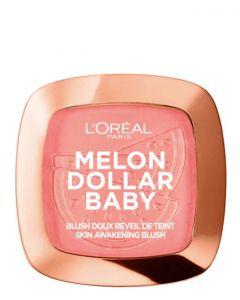 L'Oreal Paris Melon Dollar Baby Blush 03 Watermelon Addict, 9 g.