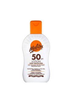 Malibu Protective Sun Lotion SPF50, 200 ml.